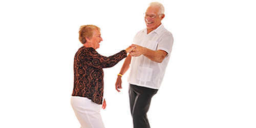 Studies show that Ballroom Dancing can reduce the risk of injury for the elderly